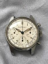 Vintage Girard Perregaux Stainless Steel Valjoux 72 Chronograph Watch