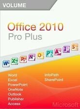 Microsoft Office 2010 Professional Plus Vollversion Deutsch 32/64 Bit 2PCs