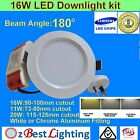 11, 16W 180° Dimmable or non-Dim LED Downlight Kit -Warm, Daylight or Cool White