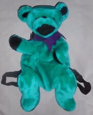 Grateful Dead Backpack Book Bag TEAL GREEN Dancing Bear by Steven Smith