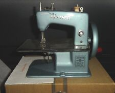 Vintage Baby Brother Sewing Machine with Case & Instructions