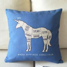 Unicorn Cushion / Pillow Cover Case Sham, SHIPS SUPER FAST FROM USA, NOT CHINA!!