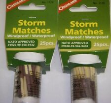 Coghlan's Storm Matches (2 pk) Windproof/Waterprooof Surival Gear #1170 (50 ct)