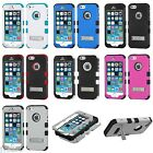 iPhone 5S 5 Tuff Hybrid Dual Layer Protective Case Cover with Metal Kickstand