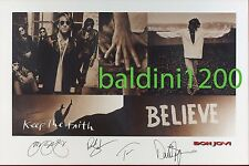 BON JOVI - SIGNED 12X8 PHOTO GREAT TOUR POSTER IMAGE COLLAGE