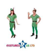 GREEN ELF SANTAS HELPER OUTFIT PETER PAN ADULT #MEN WOMEN CHRISTMAS FANCY DRESS