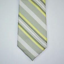 NWT CALVIN KLEIN Steel Slim Sunrise Citron Stripe Silk Blend Neck Tie