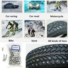 100 Pcs 9mm Steel Body Car SUV Truck Motorcycle Snow Chains Antislip Tire Studs