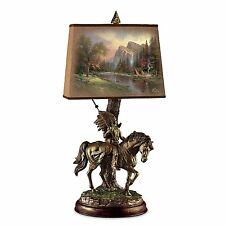 THOMAS KINKADE NATIVE AMERICAN ART SHADE LAMP LIGHT LAMPS NEW