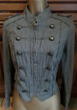 NEW LOOK Green Khaki Military Style Button Detail Jacket Size 12