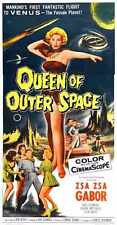 Queen Of Outer Space Poster 03 Metal Sign A4 12x8 Aluminium