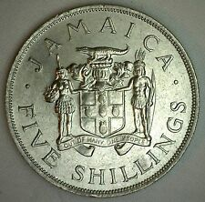 1966 Jamaica 5 Shilling Coin KM#40 Copper-Nickel Coin VIII Commonwealth Games #R