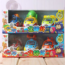 HUTOS Mini 6P Characters Cars Set For Kid Girl Boy  Cute toy Fiugure