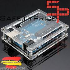 Uno R3 Atmega328 + caja carcasa acrílica case Housing box potection Arduino