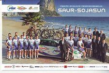 CYCLISME carte équipe cycliste SAUR - SOJASUN 2012