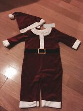 Gymboree Santa Claus Shop Halloween Baby Outfit Size 3-6 Months Hat NEW