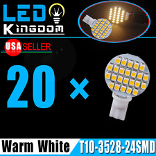 20 X Warm White T10 Wedge Landscaping 24-SMD LED Light bulbs W5W 168 194