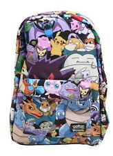 Pokemon Go Evolutions Stacked Characters Backpack School Book Bag Gift NWT!