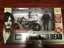 NEW The Walking Dead Daryl Dixon Action Figure Motorcycle IMPROVED Version 2.0