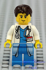 NEW Lego MALE DOCTOR Hospital Minifig w/Lab Coat Stethoscope Torso - Man/Nurse