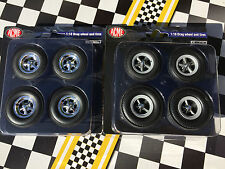 2 1:18 Acme Highway 61 Torque Thrust + Cragar SS Drag Racing Mag Wheel Tire Sets