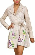 Bnwt-desigual sasha mac imprimé floral trench coat-m, uk 12