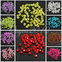 100 Glass Crystal Jewelry Findings Bicone Loose Faceted Rondelle Beads 4MM