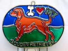 """STAINED GLASS STYLE """" GOLDEN RETRIEVER """" DOG NIGHT LIGHT- GREAT GIFT FOR ALL !"""