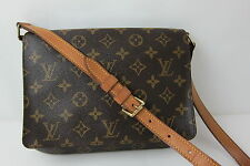AUTH VINTAGE  LOUIS VUITTON MONOGRAM MUSETTE TANGO SHOULDER BAG MADE IN FRANCE
