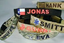 MILITARY  Custom Personalized Dog Collar