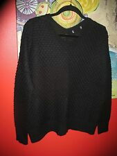 NEW! Vince. Textured V-NeckWoolblend  Sweater Black size S
