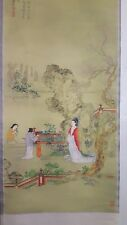20TH CENTURY CHINA HAND PAINTED CHINESE HANGING SCROLL - FLOWERS