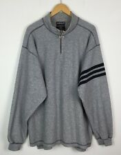VINTAGE RETRO 90'S GREY ADIDAS FLEECE SWEATER SWEATSHIRT SPORTS JUMPER UK XL/XXL