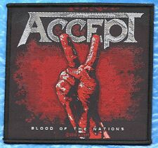 ACCEPT BLOOD OF THE NATIONS   / HEAVY METAL PATCH