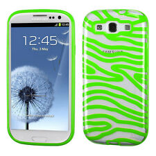 For Samsung Galaxy S III S3 TPU CANDY Gel Flexi Skin Case Phone Clear Zebra