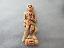 Camel Bones Carved Skeleton Bead 1pc