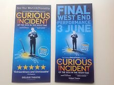 2x different flyers THE CURIOUS INCIDENT OF THE DOG IN THE NIGHTTIME