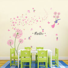 Girls Dandelion DIY Wall Stickers Decals Home Decor Art Removable Vinyl Murals