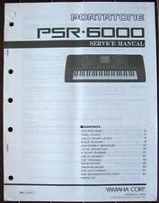 Yamaha Original Service Manual Book PSR-6000 Portatone Midi Keyboard Workstation