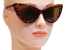 RETRO CAT EYE SUNGLASSES WOMEN NIKITA VINTAGE STYLE BROWN TORTOISE FRAME
