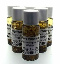 Mojo Wishing Herbal Infused Ritual Botanical Spell Incense Oil