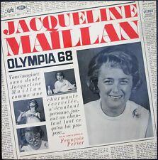 JACQUELINE MAILLAN RARE 33T LP OLYMPIA 68 Enregistré en direct SOIR DE LA 1ère