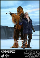 """Hot Toys HAN SOLO & CHEWBACCA SET 2017 STAR WARS Masterpiece Series 1/6 14"""""""