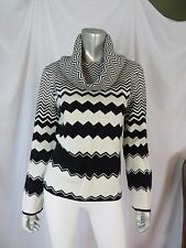 BLOOMINGDALE'S L NWOT 100% Wool Trendy Chevron Shawl Turtle Nec Pullover Sweater