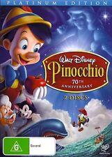 PINOCCHIO 70th Anniversary Platinum : NEW 2-DVD