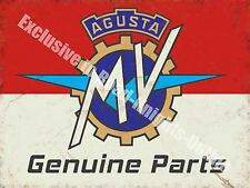 Vintage Garage MV Agusta, 116, Motorcyles Parts Italian, Small Metal/Tin Sign