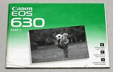 CANON EOS 630 Original Camera Guide Manual Instruction Photography Book