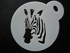 Laser cut small zebra design cake, cookie and craft stencil