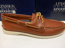 SPERRY TOP SIDER MENS BOAT SHOE A/O 2-EYE TAN SIZE 10