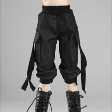 "Dollmore 17"" 1/4 BJD doll clothes  MSD - Cargo seven thenths pants (Black)"